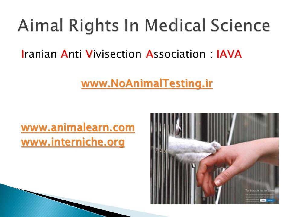 Iranian A AA Anti V VV Vivisection A AA Association : I II IAVA wwww wwww wwww....