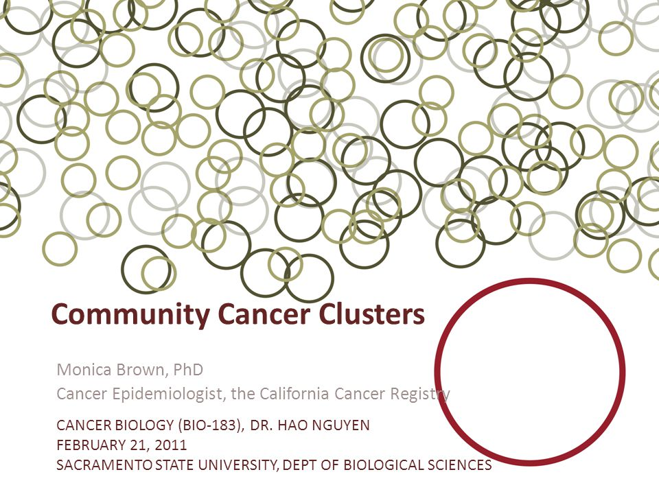 When a Californian has a Cancer Concern: the Role of the CCR The CCR and it's regional cancer registries respond to numerous requests for evaluation of community and workplace cancer concerns.