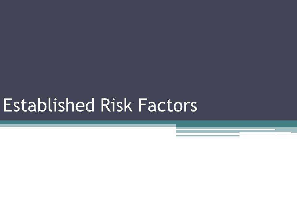 Established Risk Factors