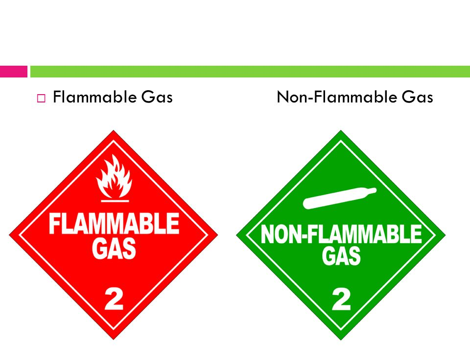  Flammable Gas Non-Flammable Gas