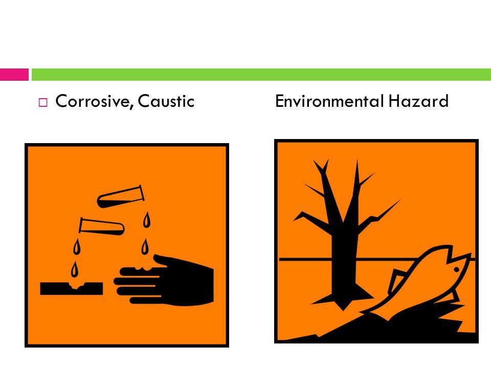  Corrosive, Caustic Environmental Hazard