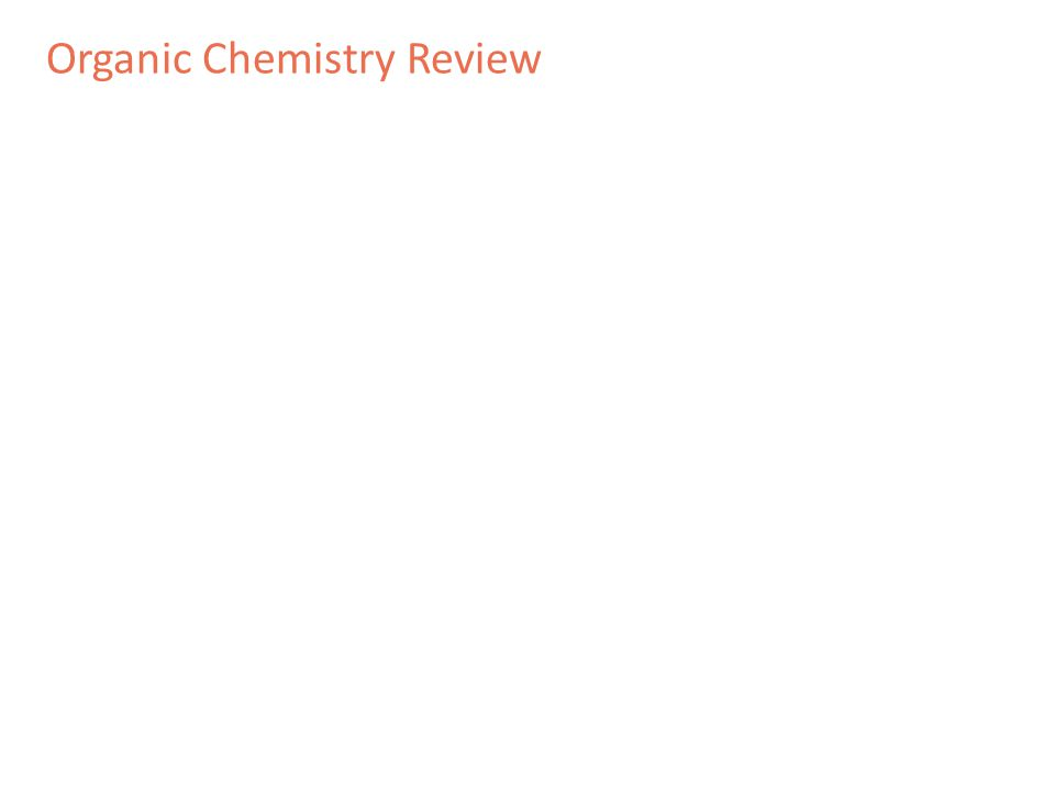 Organic Chemistry Review