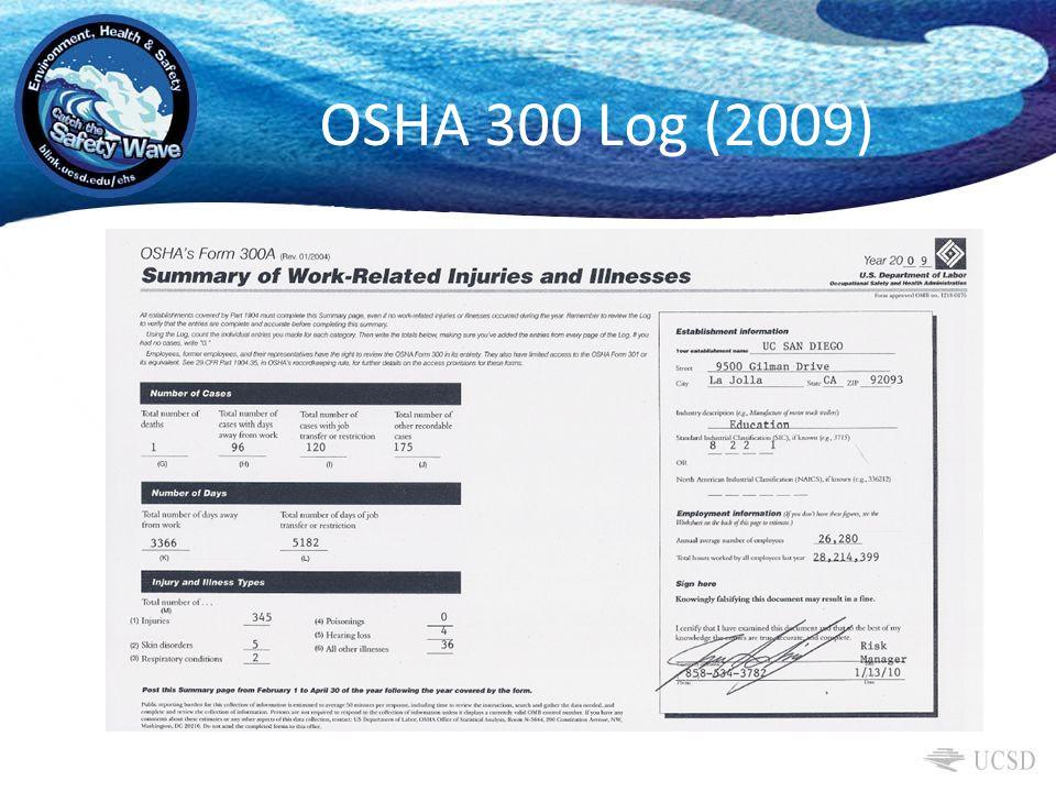OSHA 300 Log (2009)