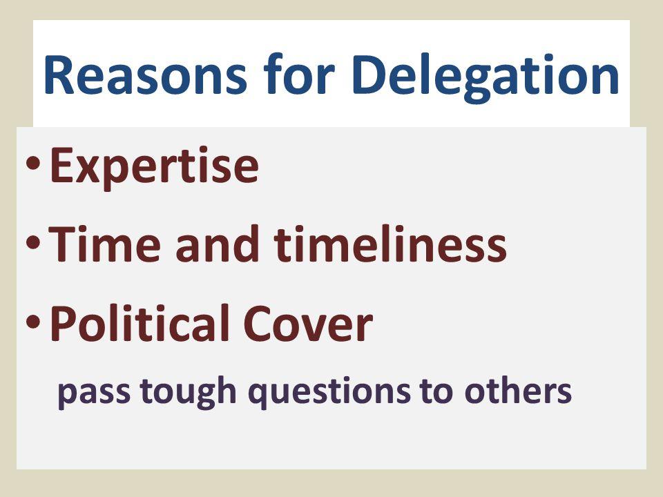 Problems with Delegation Legislative Deference Informational Asymmetry