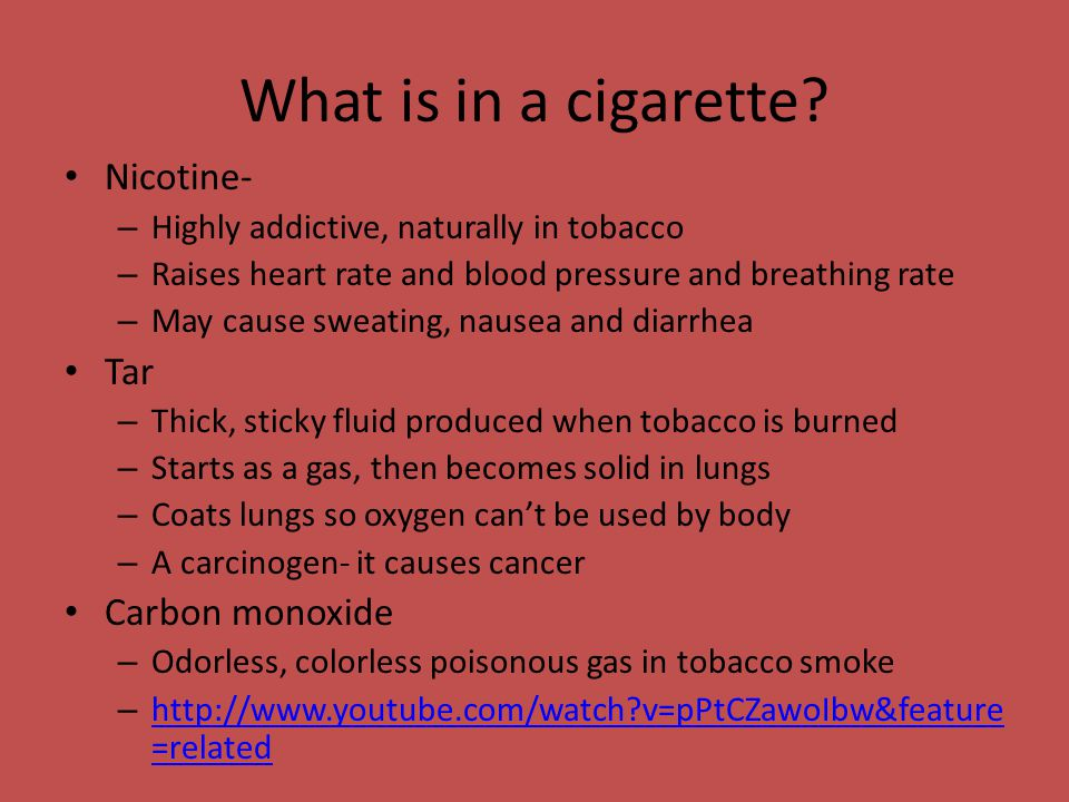 What is in a cigarette.