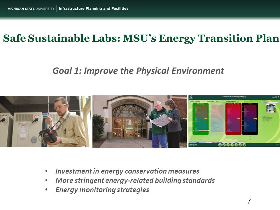 Safe Sustainable Labs: MSU's Energy Transition Plan Capacity Reliability Environment Health Cost Why is IPF installing the OptiNet system.