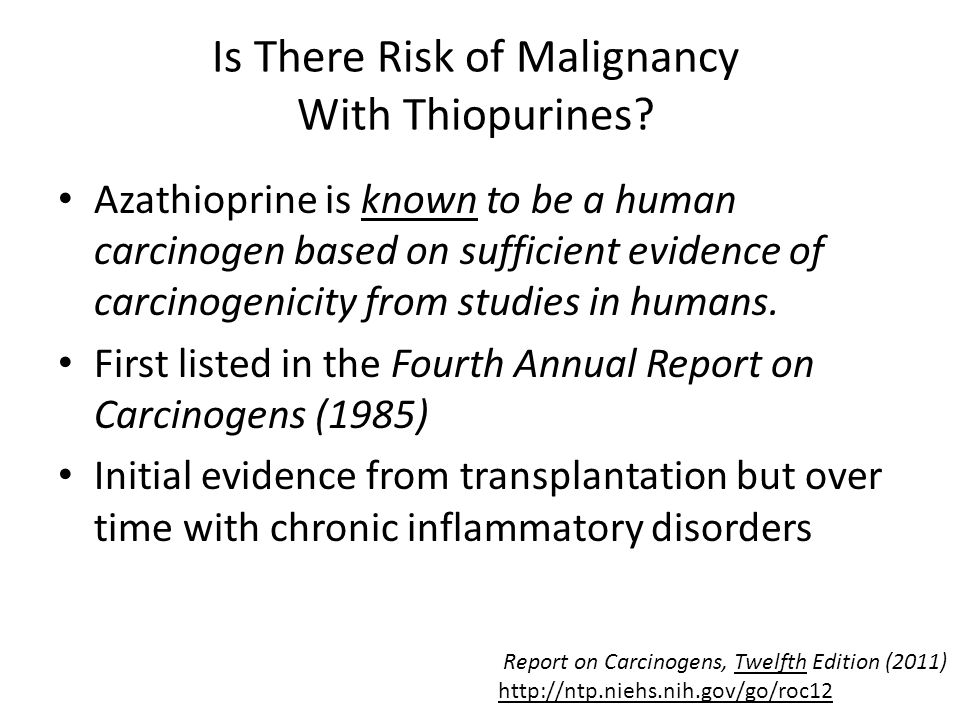 Is There Risk of Malignancy With Thiopurines.