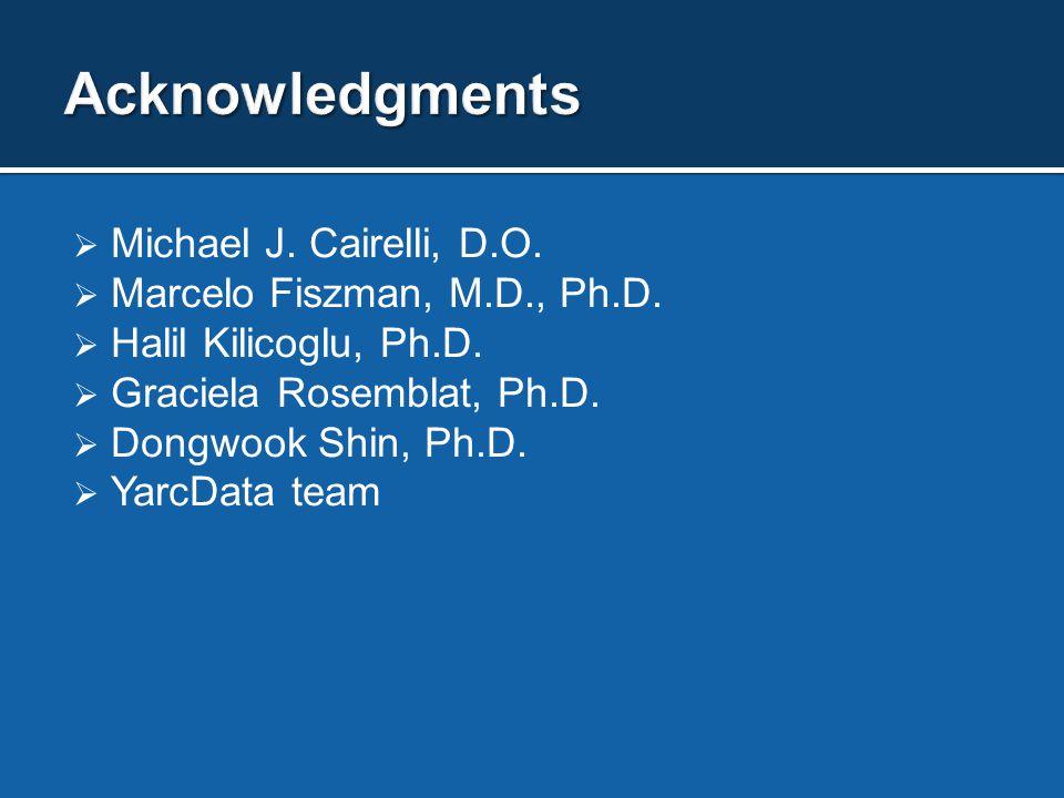  Michael J. Cairelli, D.O.  Marcelo Fiszman, M.D., Ph.D.