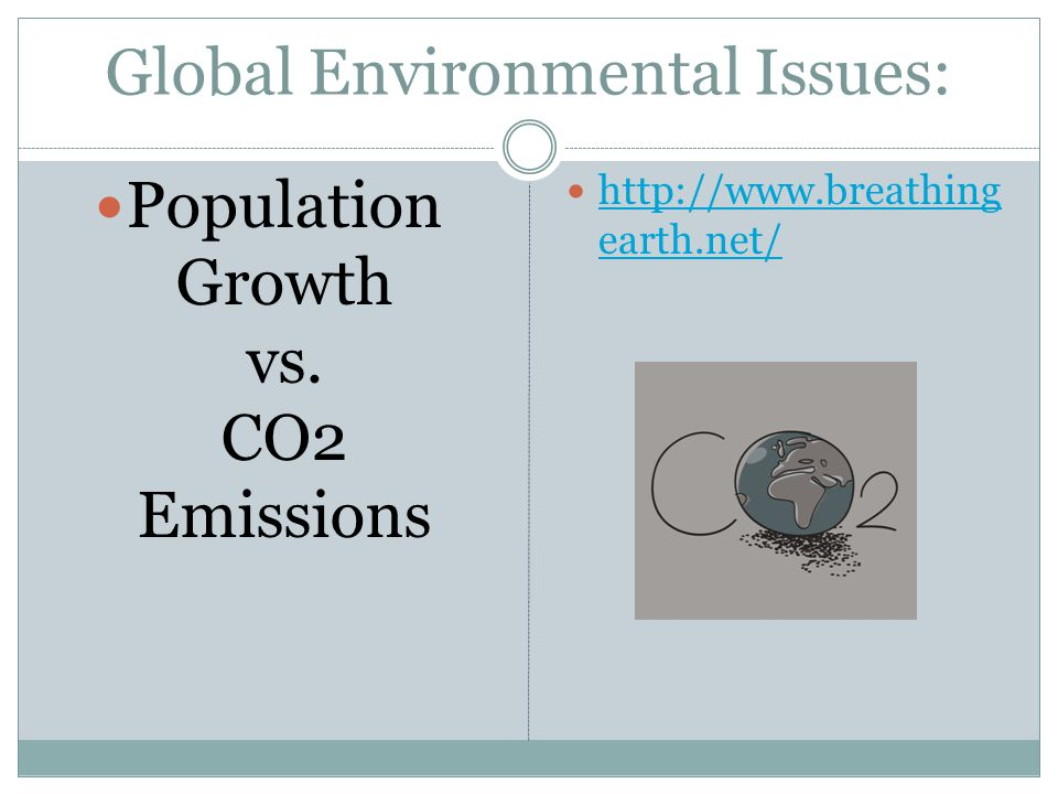 Global Environmental Issues: Population Growth vs.