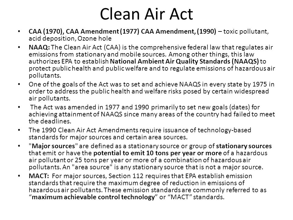 RCRA (1976) The Resource Conservation and Recovery Act (RCRA) gives EPA the authority to control hazardous waste from the cradle-to-grave. This includes the generation, transportation, treatment, storage, and disposal of hazardous waste.