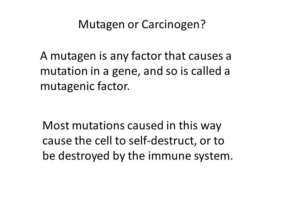 Mutagen or Carcinogen.