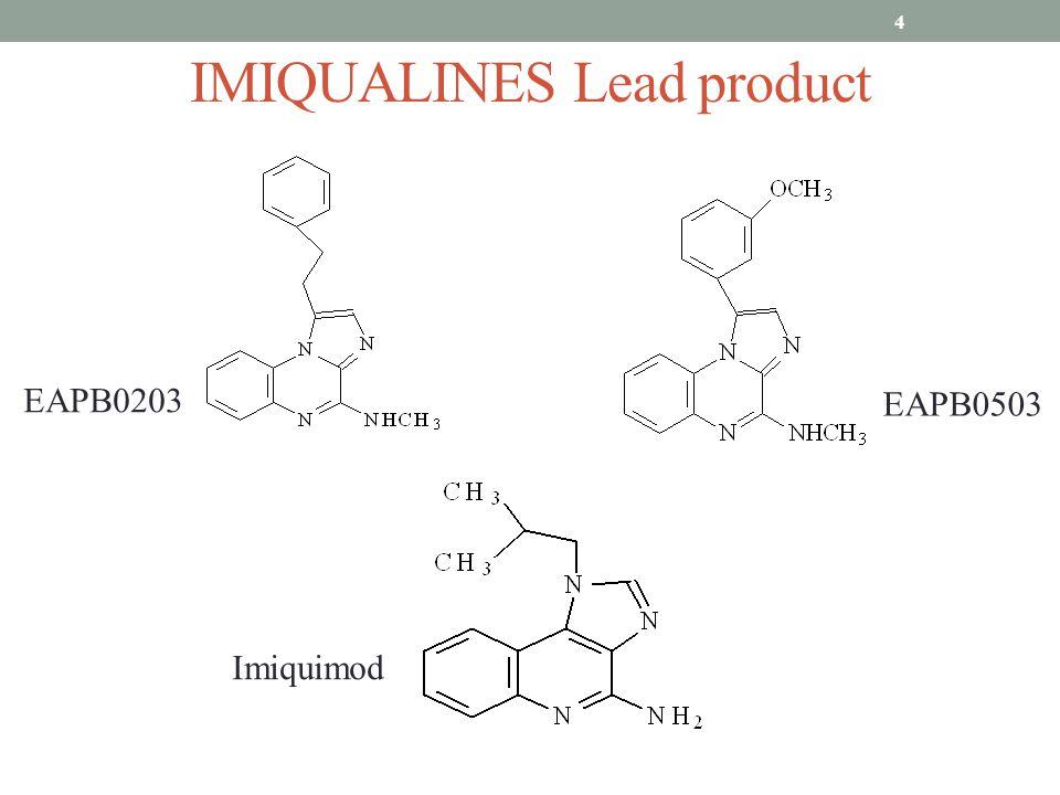 IMIQUALINES Lead product 4 EAPB0203 EAPB0503 Imiquimod