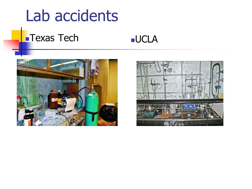 Texas Tech UCLA Lab accidents