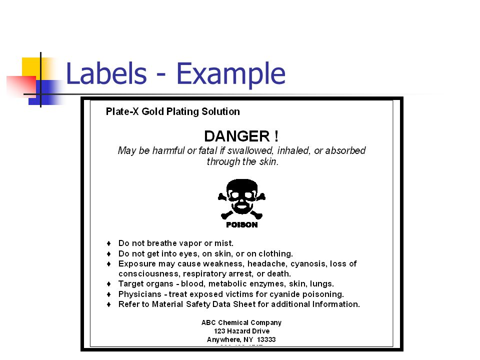 Labels - Example