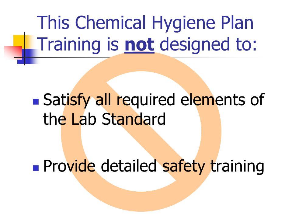YSU Chemical Hygiene Plan