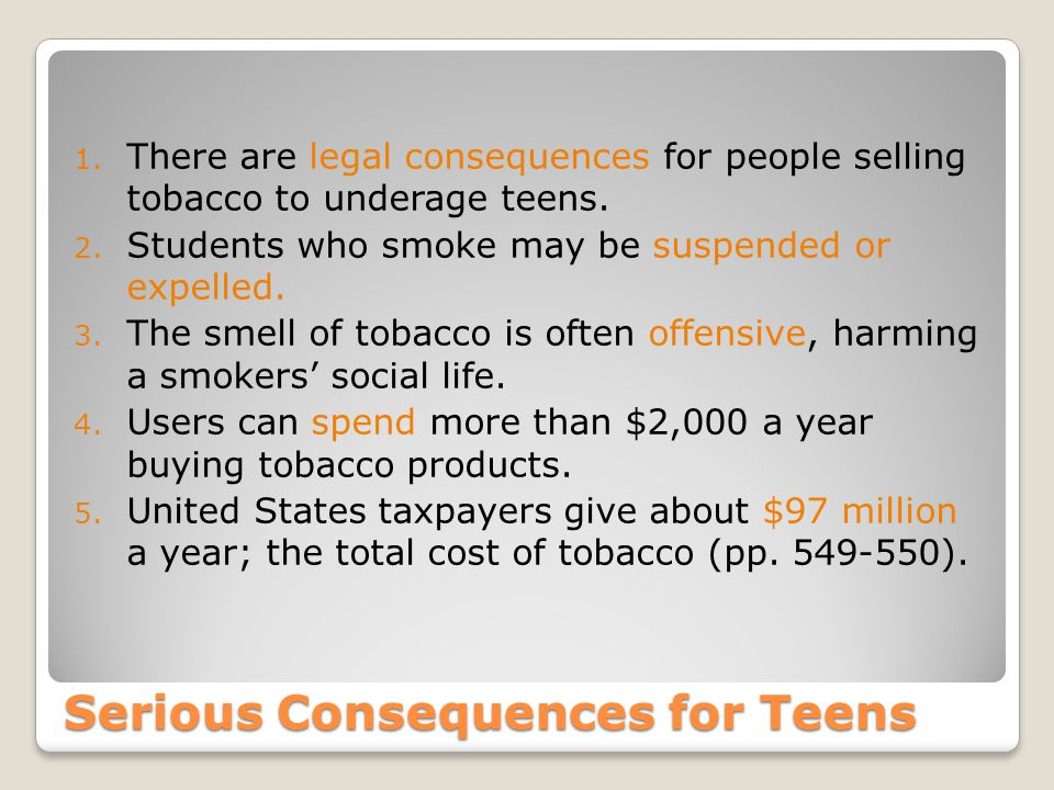 Serious Consequences for Teens 1.