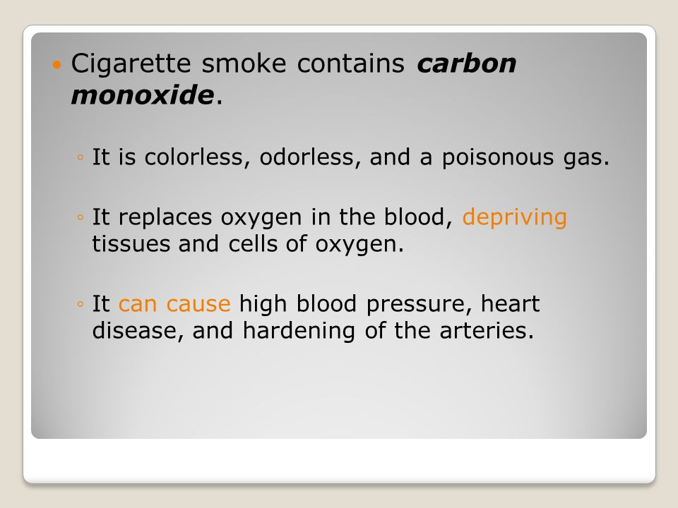 Harmful Effects of Pipes and Cigars Cigars contain more nicotine and produce more tar and carbon monoxide than cigarettes do.