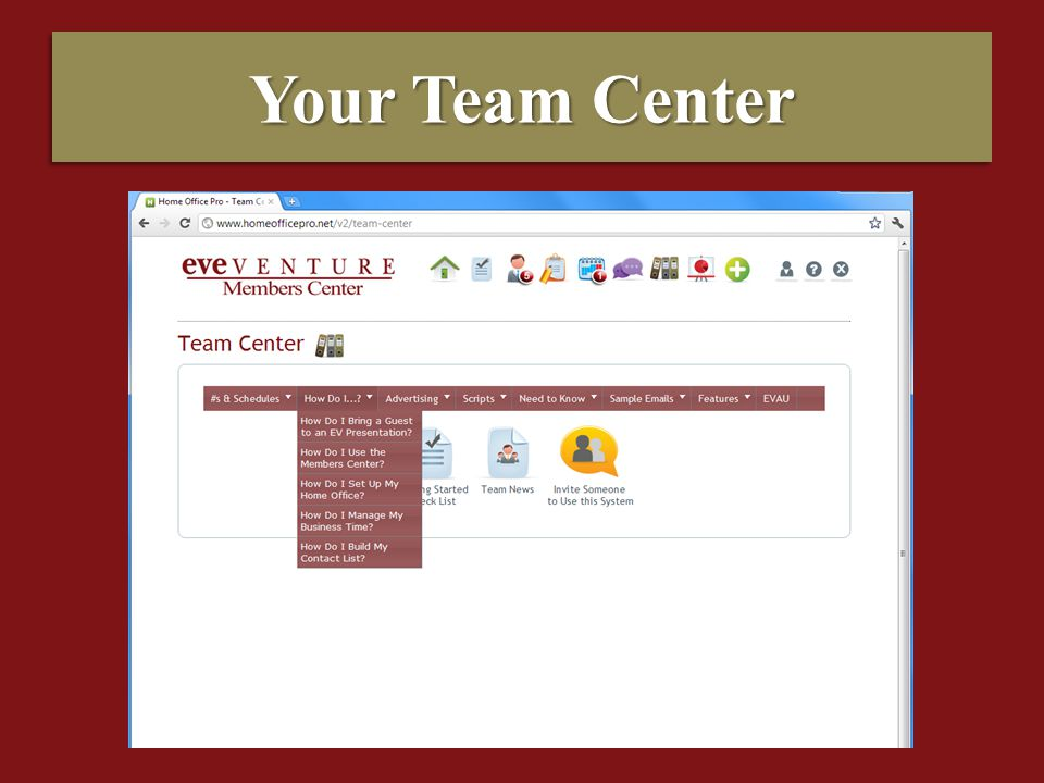 Your Team Center