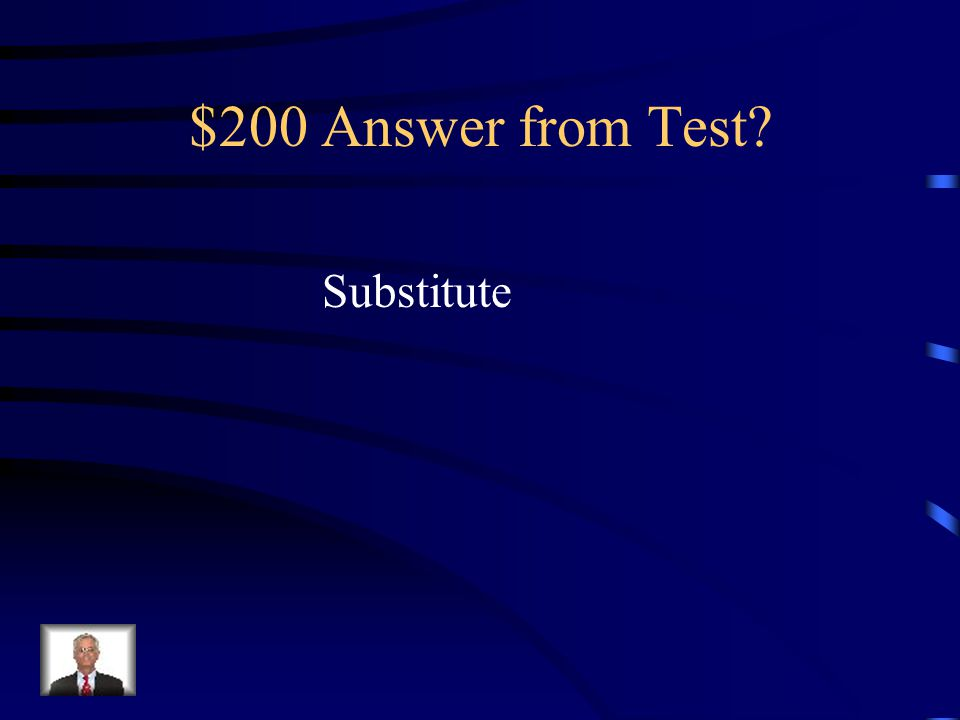 $200 Question from Test.