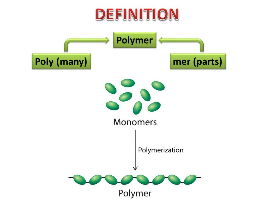 Poly (many) mer (parts) Polymer