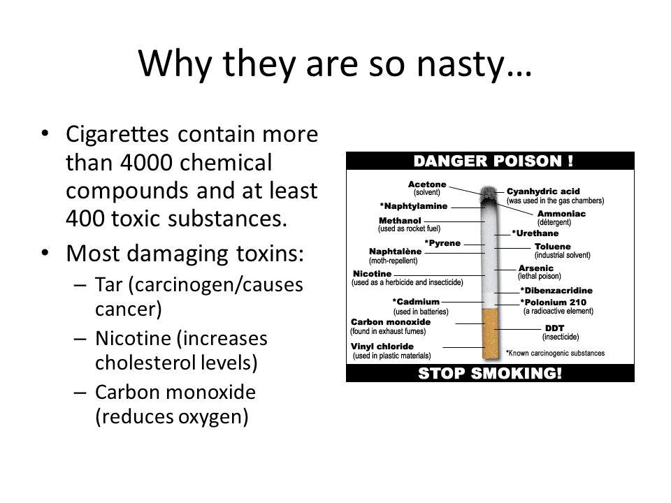 Smoking causes diseases Coronary heart disease (leading cause of death in the US) Peripheral vascular disease Abdominal aortic aneurysm Lung disease