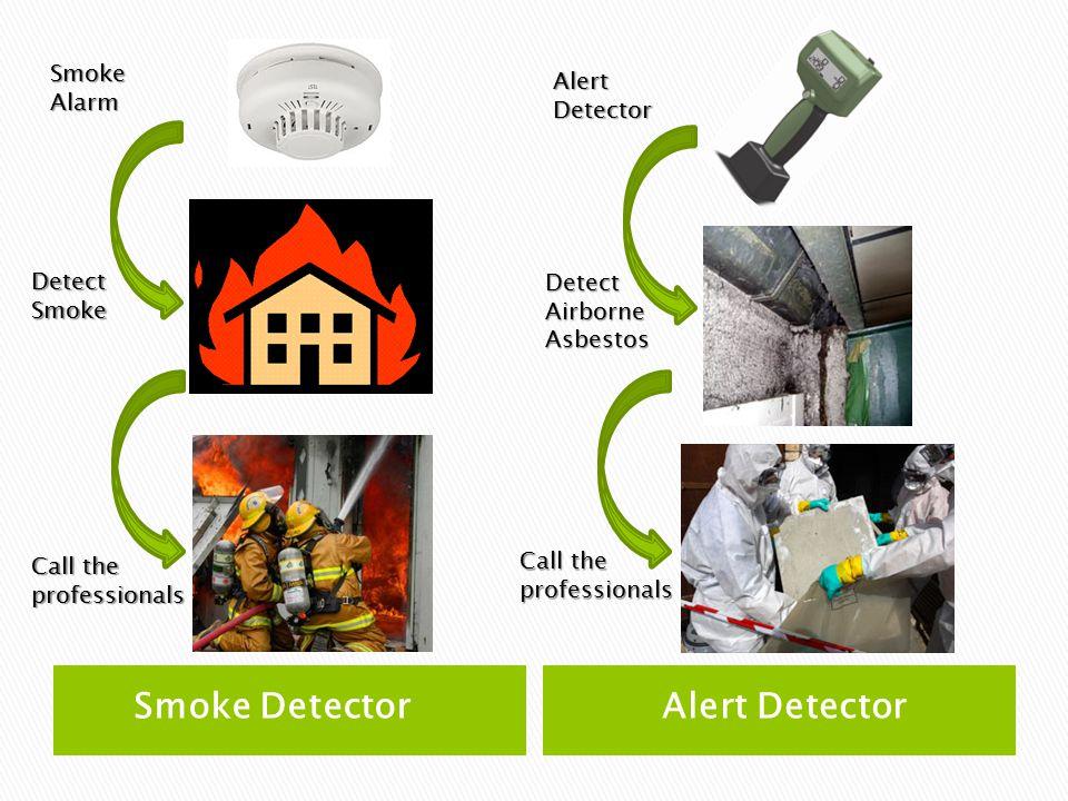 Smoke DetectorAlert Detector Smoke Alarm Alert Detector Detect Smoke Call the professionals Detect Airborne Asbestos