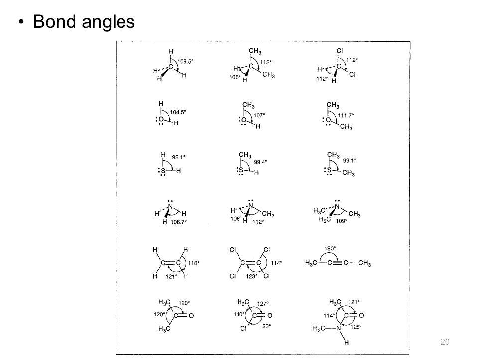 20 Bond angles