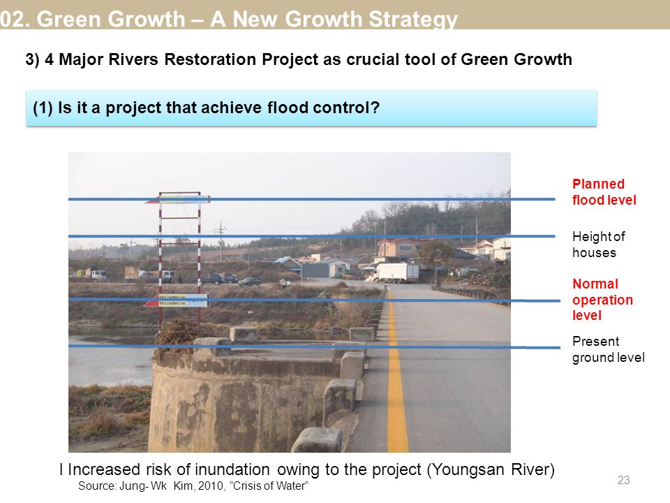(1) Is it a project that achieve flood control.