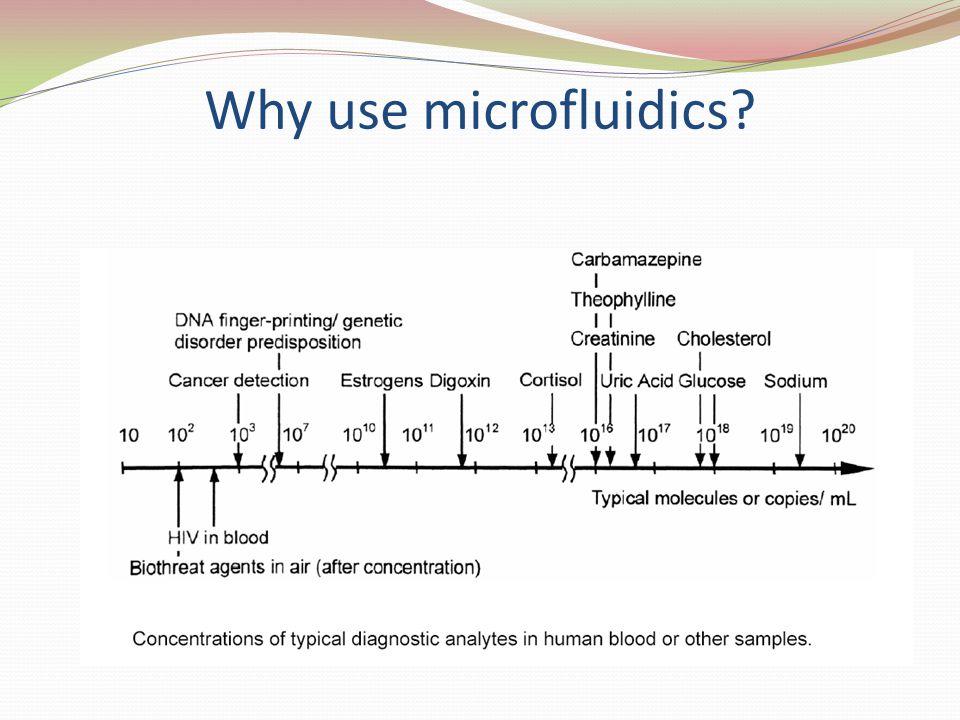 Why use microfluidics?