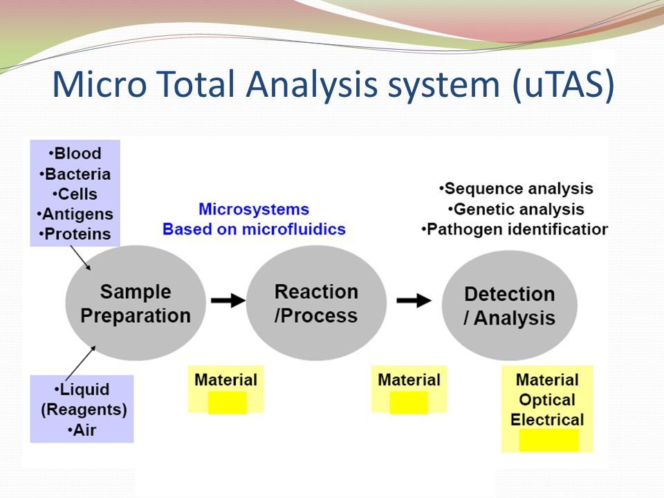Micro Total Analysis system (uTAS)