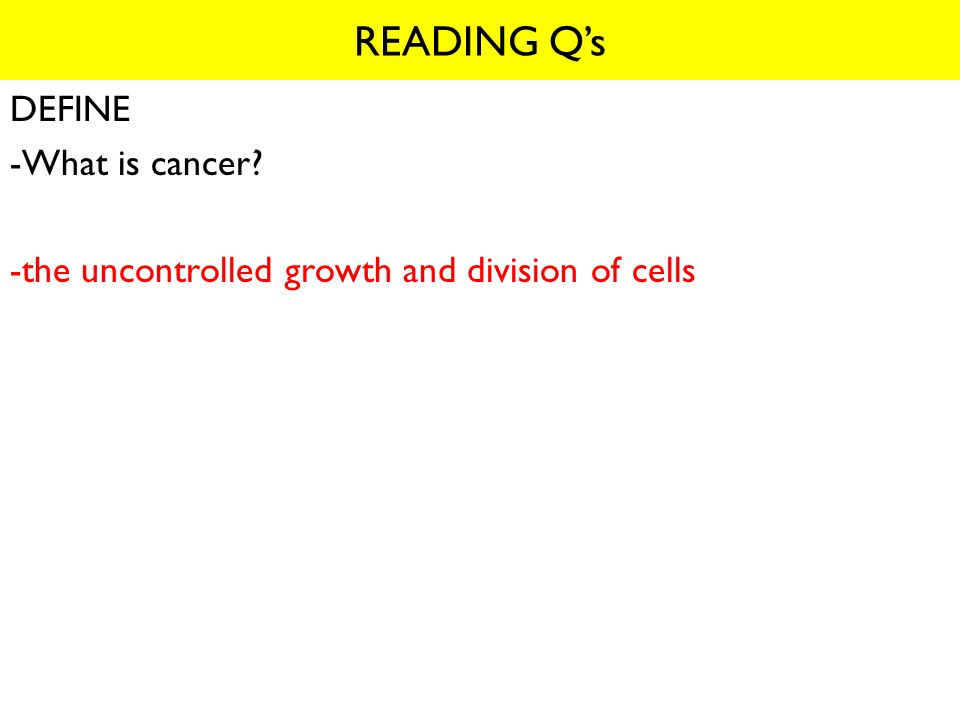 READING Q's NAME -When are some of the important combinations active? -mitosis and interphase (G 1, S, G 2 )