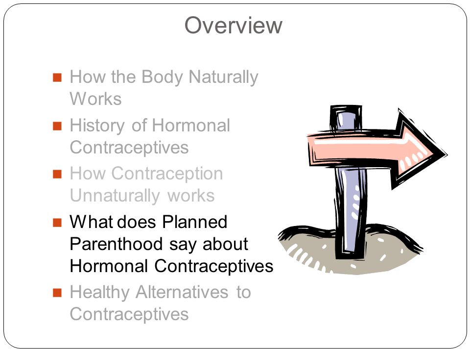 Overview How the Body Naturally Works History of Hormonal Contraceptives How Contraception Unnaturally works What does Planned Parenthood say about Hormonal Contraceptives Healthy Alternatives to Contraceptives