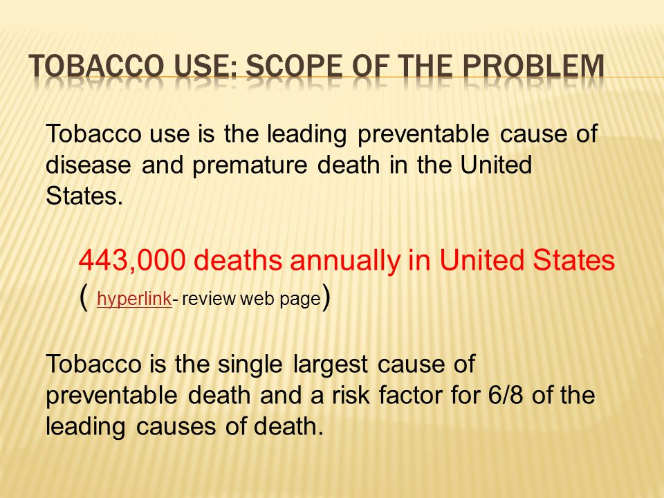  In 2009, 69.7 million Americans, or 27.7% of the population age 12 or older, reported current use of a tobacco product.