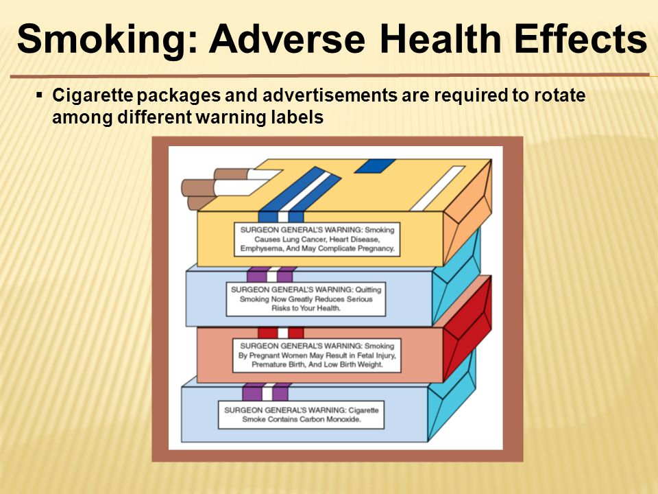  Cigarette packages and advertisements are required to rotate among different warning labels
