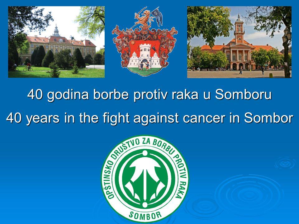 40 years in the fight against cancer in Sombor 40 godina borbe protiv raka u Somboru