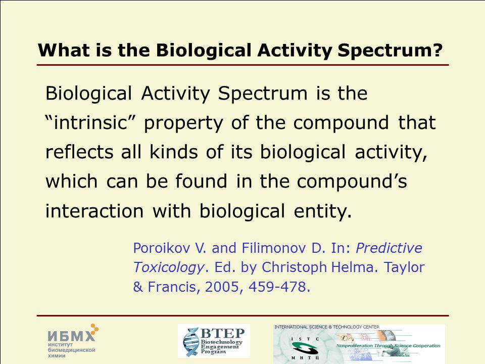 What is the Biological Activity Spectrum.