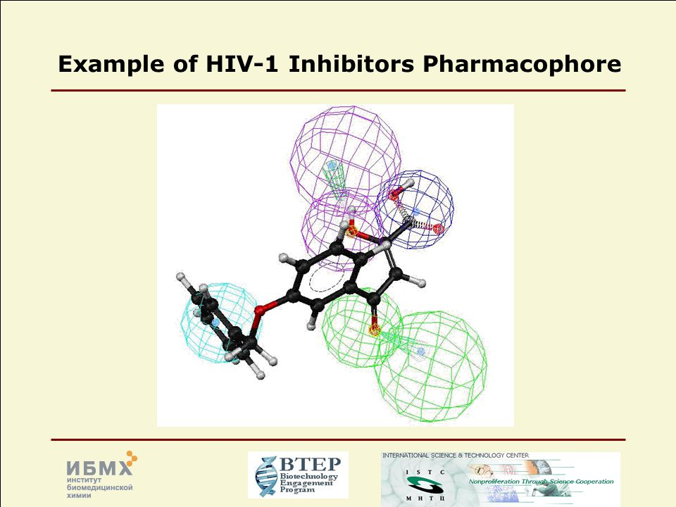 Example of HIV-1 Inhibitors Pharmacophore