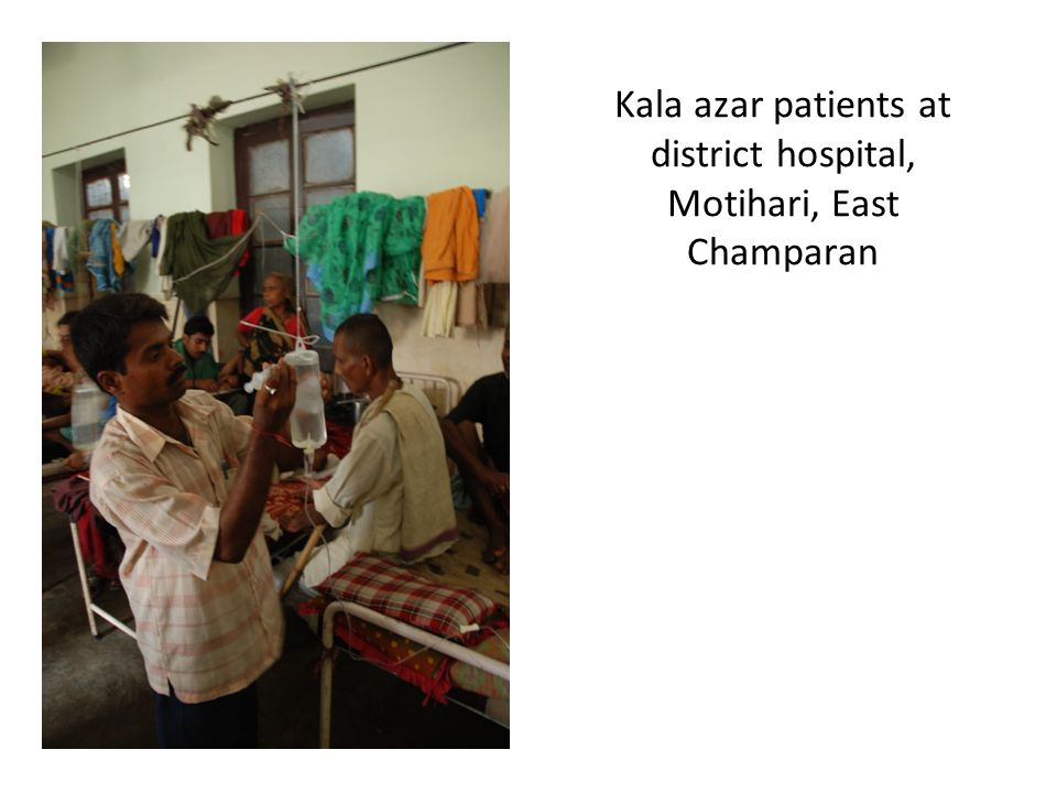 Kala azar patients at district hospital, Motihari, East Champaran