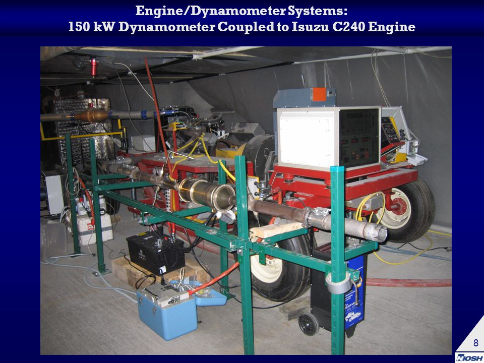 8 Engine/Dynamometer Systems: 150 kW Dynamometer Coupled to Isuzu C240 Engine