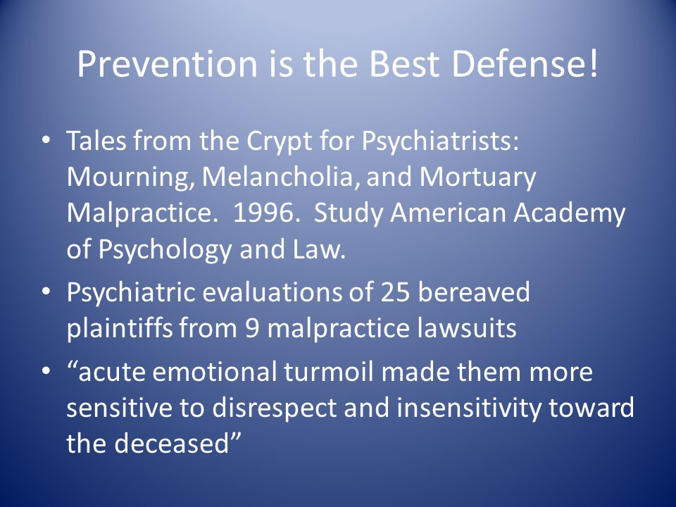 Prevention is the Best Defense.