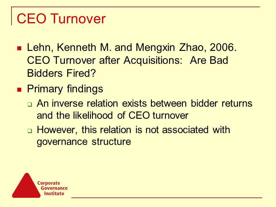 CEO Turnover Lehn, Kenneth M.and Mengxin Zhao, 2006.