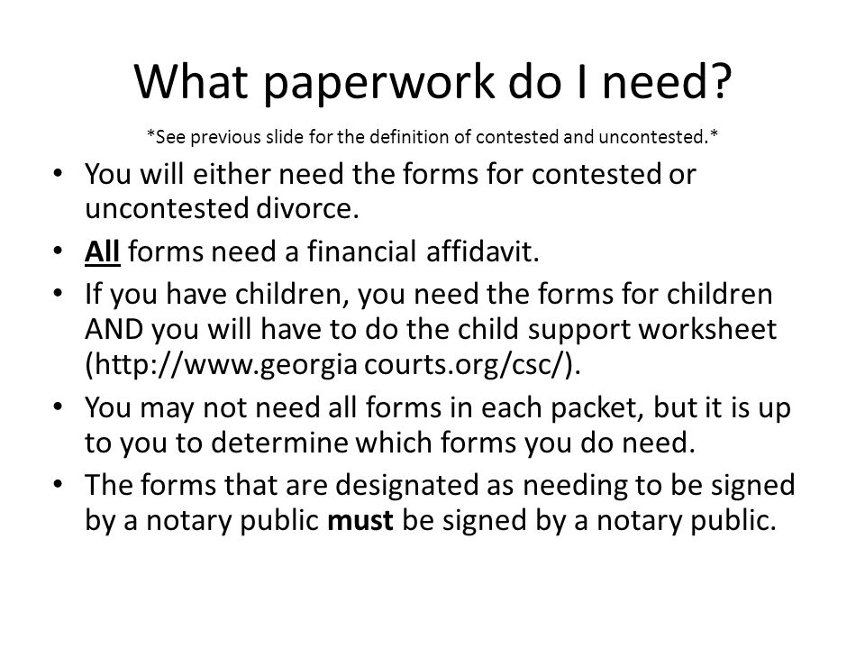 If you have children, please note: An original petition for child support is only applicable where you do not have a prior Child Support Order against this non-custodial parent.