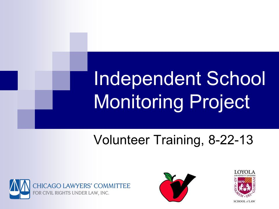 Agenda Introductions, purposes of the project School closings: the scope of the problem Legal rights of students at welcoming schools (including special education laws) Your job as a monitor Q&A Volunteer sign-ups