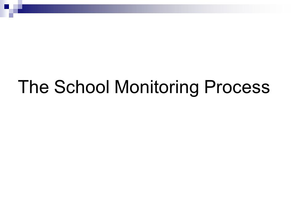 The School Monitoring Process