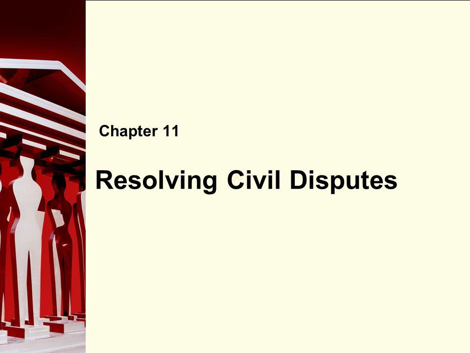90 Resolving Civil Disputes Chapter 11