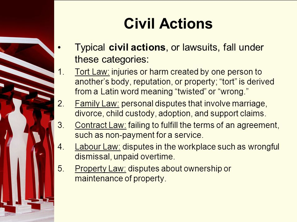 Is civil law the type of law used in lawsuits?