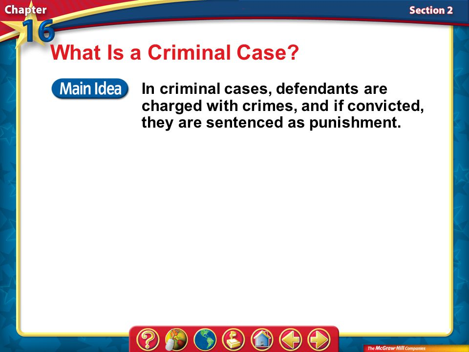 Section 2 What Is a Criminal Case.