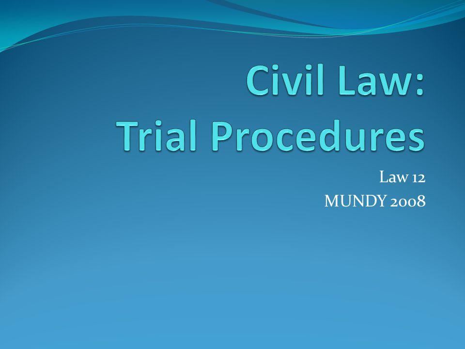 Law 12 MUNDY 2008