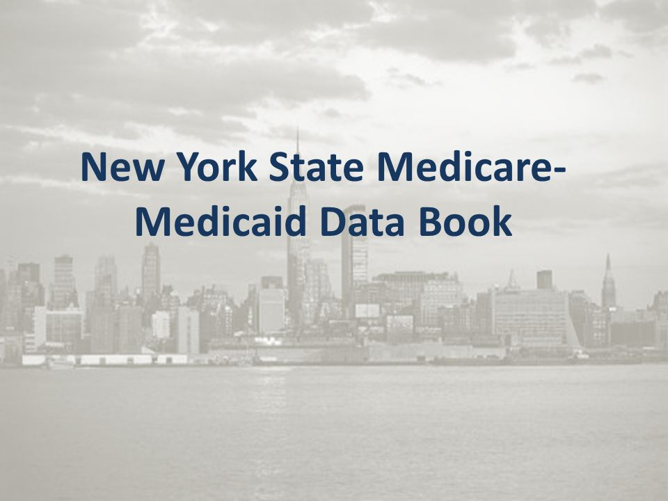 New York State Medicare- Medicaid Data Book