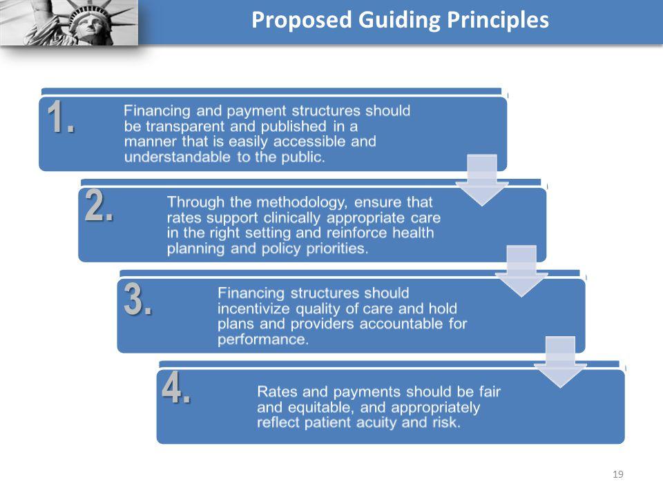 19 Proposed Guiding Principles1. 2. 3. 4.